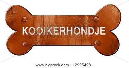 Kooikerhondje, 3D rendering, rough brown dog bone