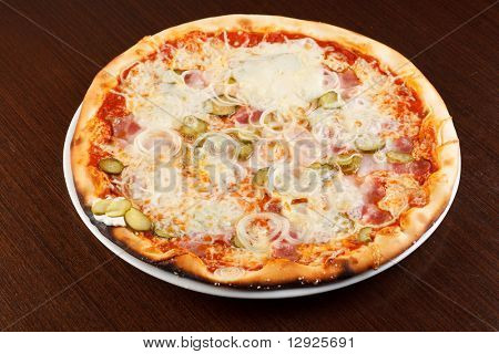 pizza on the table