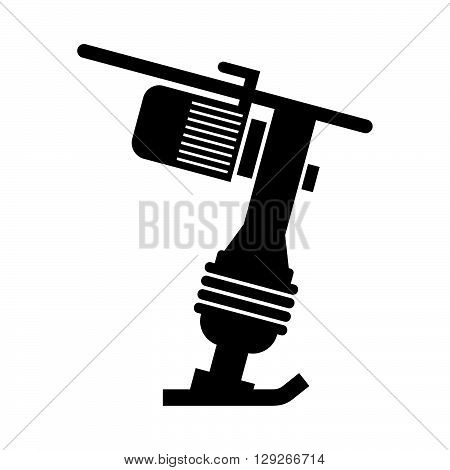 Soil compactor ( shade picture ) on white background