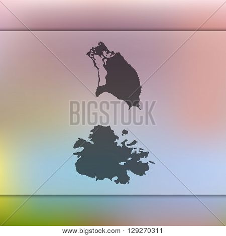 Antigua and Barbuda map on blurred background. Antigua and Barbuda vector map. Blurred background with silhouette of Antigua and Barbuda.