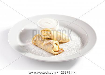 Dessert - Pancakes with Sour Cream