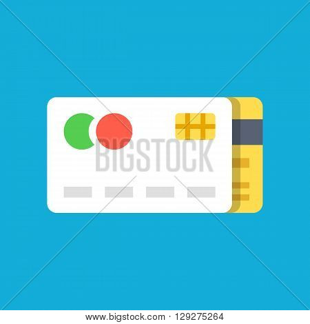 Vector credit cards icon. Flat credit card icon. Payment, online shopping, retail concepts. Flat design vector illustration for web banner, web and mobile, infographics, printed materials. Vector icon