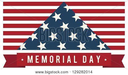 America USA Memorial Day Patriotic Vector. Symbolic US Flag.