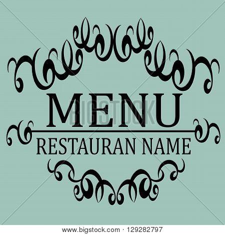 Elegant Restaurant Menu design. Vector illustration frame in retro vintage style.