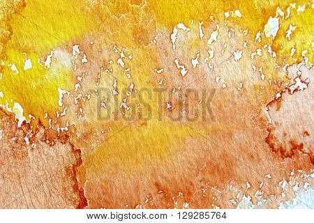 Orange and Yellow Watercolour Background 2