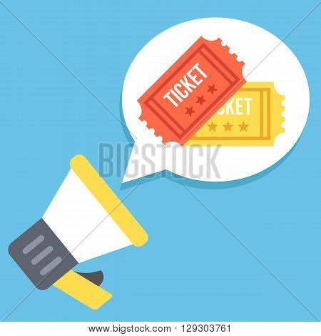 Cinema promotion, advertisement flat illustration. Marketing, advertising, go to cinema concept. Creative graphic elements for web site, web banner, printed materials, infographic. Vector illustration