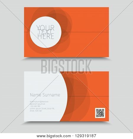 Visit Card With QR Code. Business Card Template Design.