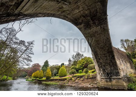 Under the Brig o Doon in Alloway Scotland