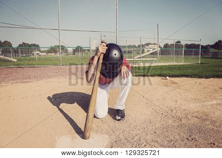 Depressed batter after striking out