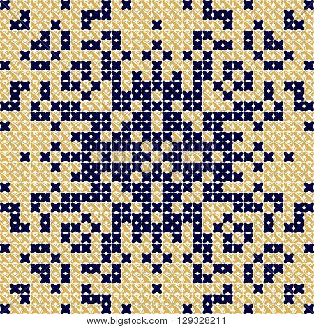 Cross stitch pattern, embroidery pattern, textile and tapestry background. Tablecloth texture. Antique, Scandinavian style. Vector Illustration designed for pillows, tablecloths, bedspreads