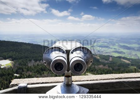 Public Telescope View From Jested Mountain Near Liberec Czech Republic