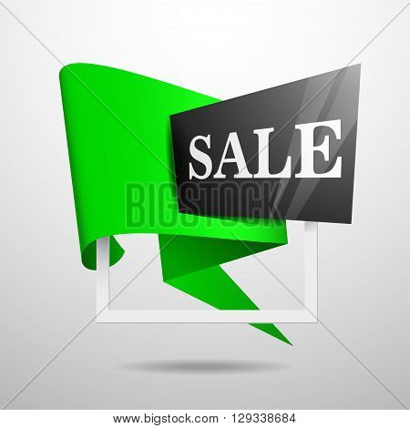 Sale Banner Template Design. Label Vector.