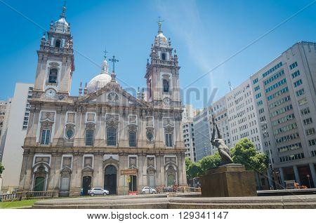 Rio De Janeiro, Brazil - March 06, 2016: Church Nossa Senhora Da Candelaria In Rio De Janeiro. Brazi