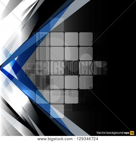 Dark vector abstract technology background