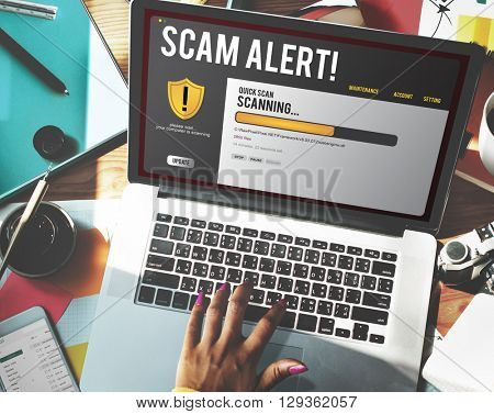 Technology Scam Computer Hacking Concept