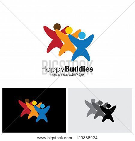 joy and excitement vector logo icon in eps 10 format