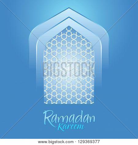Vector stock of islamic Ramadan Kareem with blue background