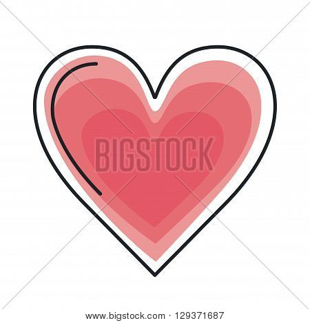 heart love design, vector illustration eps10 graphic