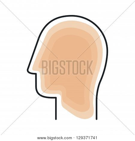 profile human design, vector illustration eps10 graphic