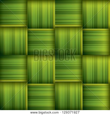 Ketupat (rice dumpling) texture. Woven palm leaf. Seamless background.
