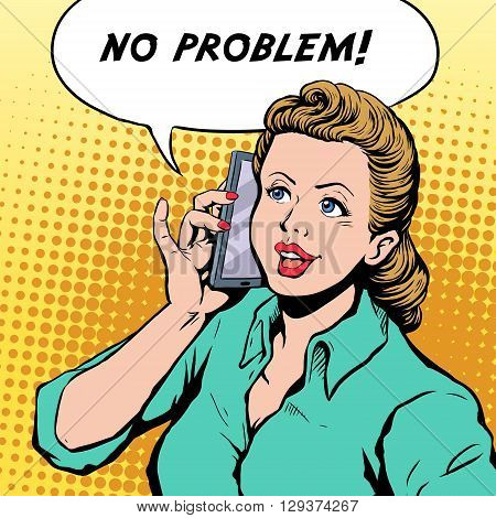 No Problem Pop Art Illustration
