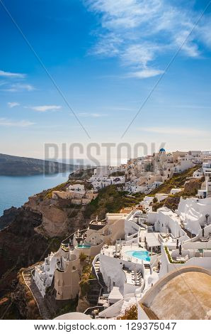 City view of Oia, Santorini island, Greece