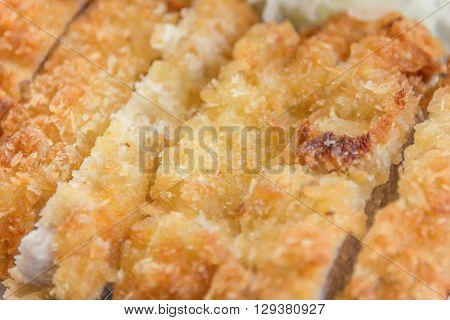 Breaded Pork Cutlet, Japanese Food Style Tonkatsu
