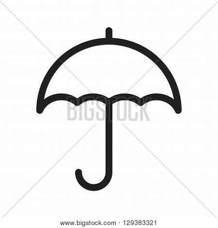 Support, help, umbrella icon vector image. Can also be used for logistics. Suitable for mobile apps, web apps and print media.
