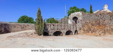 Sao Roque Fort entrance in Castelo de Vide. Castelo de Vide, Portalegre, Alto Alentejo, Portugal.