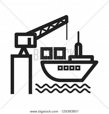 Delivery, port, shipping icon vector image. Can also be used for logistics. Suitable for mobile apps, web apps and print media.
