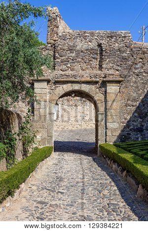 Entrance of the medieval Castelo de Vide Castle. Castelo de Vide, Portalegre, Alto Alentejo, Portugal