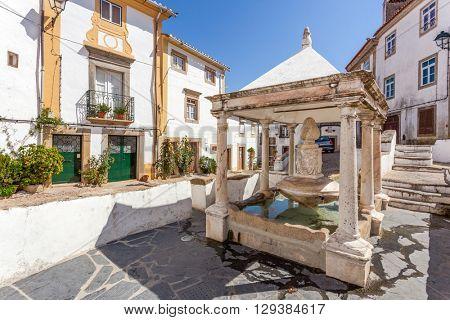 Fonte da Vila (Town's Fountain) in the Jewish Quarter of Castelo de Vide, Portalegre, Portugal. 16th century fountain.