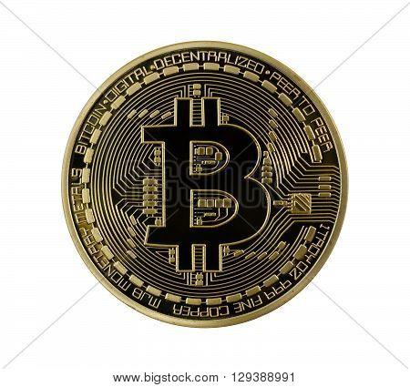 Golden Bitcoins (digital Virtual Money) Isolated