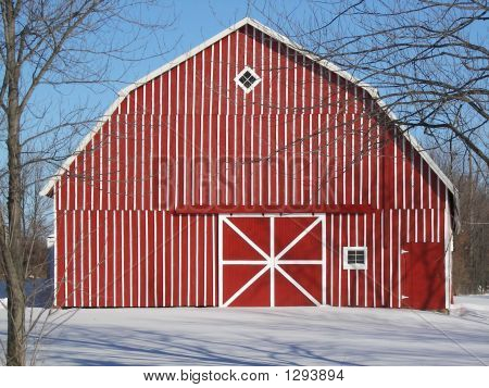 Unique Red Country Barn