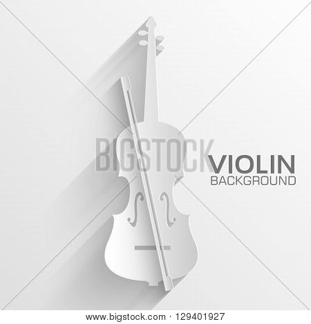 Paper Violin Vector Background Concept. Illustration Tamplate Fo