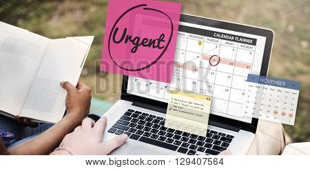 Urgent Prioritize Urgency Planner Concept poster