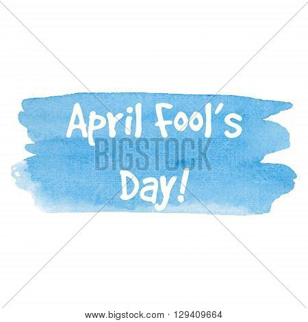 April Fool's Day card lettering on gold background vector illustration. Lettering inscription for card label print poster.