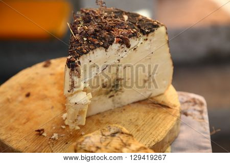 Cheese Called Drunkard With Marc And Raisins