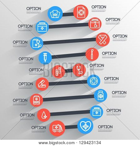 Dna Medical Infographic Backgrounds