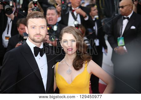 Justin Timberlake,  Anna Kendrick attend the 'Cafe Society' premiere and the Opening Night Gala during the 69th Cannes Film Festival at the Palais des Festivals on May 11, 2016 in Cannes, France.