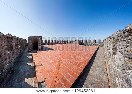 Castelo de Vide, Portugal - July 23, 2015: Top of the Castelo de Vide Castle Watchtower Castelo de Vide, Portalegre , Alto Alentejo, Portugal.