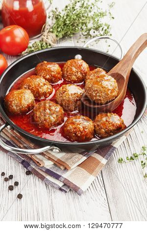 Meatballs  On The Table