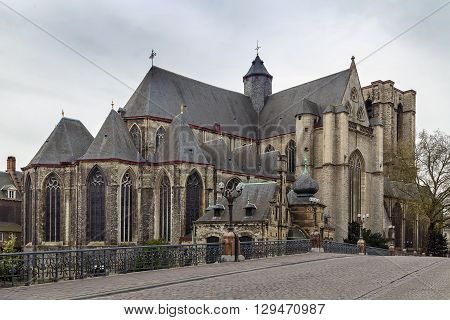 Saint Michael's Church is a Roman Catholic church in Ghent Belgium built in a late Gothic style. poster