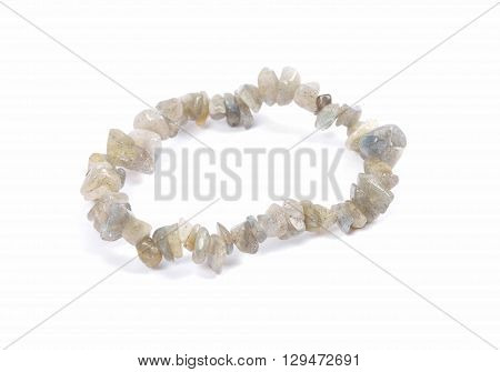 Splintered Labradorite Chain On White Background