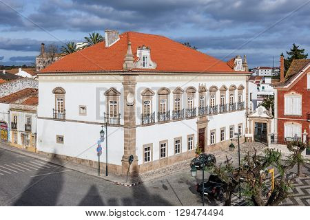 Alamo Palace in the Barreto Caldeira Square. Alter do Chao, Portugal.