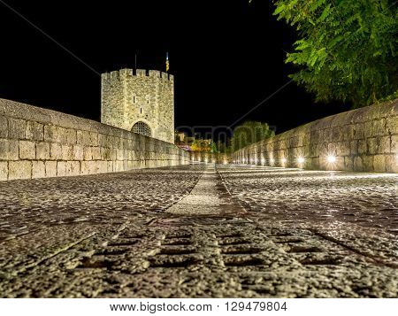 A Night alone on the Besalu Bridge