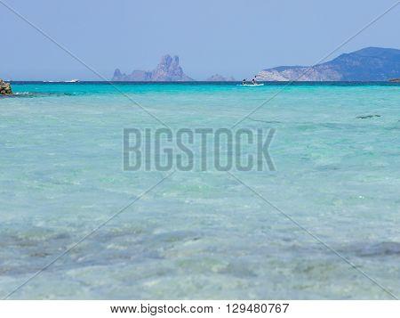 Kayak In Ses Illetes Beach