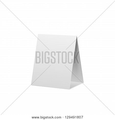 Paper filded Banner realistic Mockup. Commercial empty Template. Vector Illustration