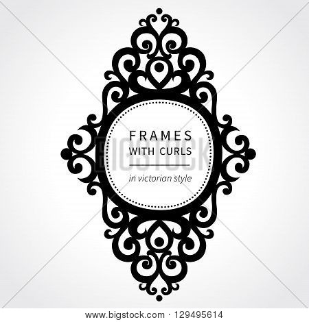 Vector Frame With Classical Ornament In Victorian Style.