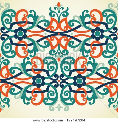 Vector Baroque Seamless Border In Victorian Style.